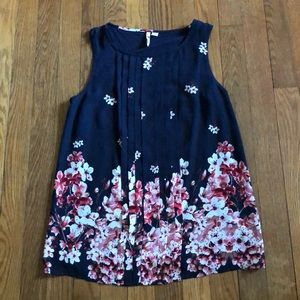 Elite Small woman's floral tank top